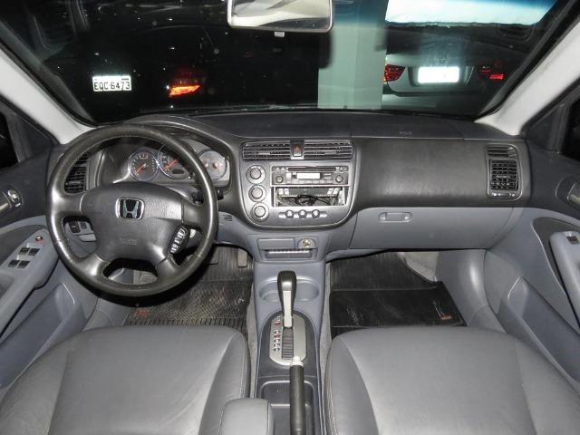 Honda Civic 1.7 EX 16v 4p Automático Blindagem III-A Completo C/ Couro - Foto 8