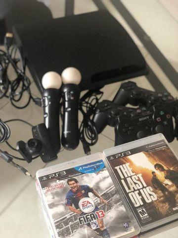 Playstation 3 com move e 12 jogos originais