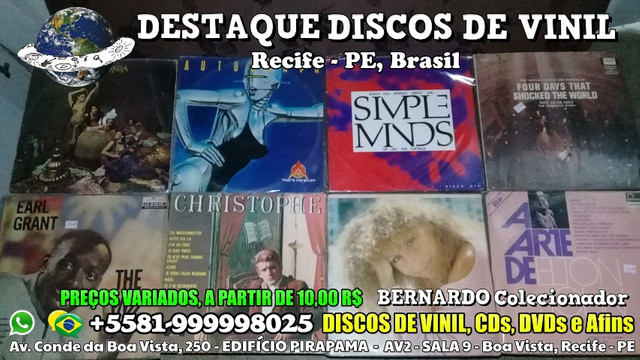 Destaque Discos de Vinil, CDs e DVDs - Boa Vista, Recife PE