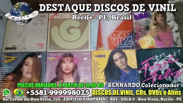 Varios Discos de Vinil CDs e DVDs, Preços Variados - Foto 4