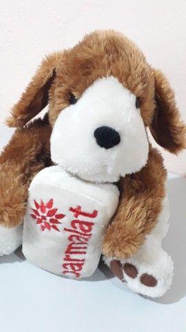 Cachorro de pelúcia da coleção Mamíferos da Parmalat antigo