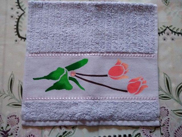 Toalha de lavabo e manicure - Foto 2