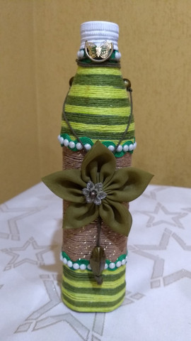 Garrafas decoradas - Foto 4