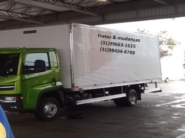 Caminhão baú fretes e mudanças carretos BHte MG Brasil