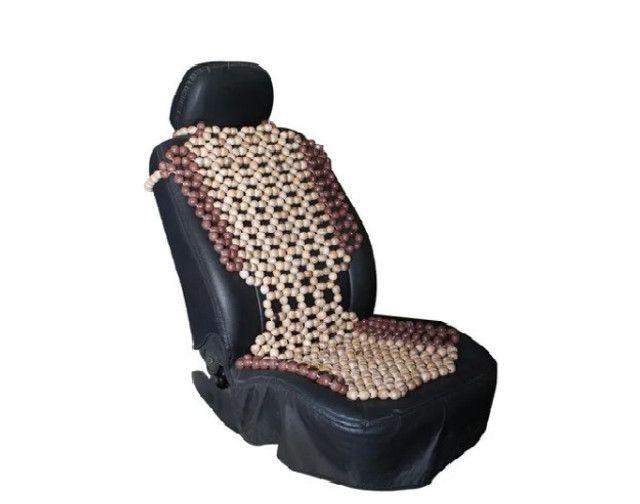 Encosto massageador banco carro bolinha madeira - Foto 2
