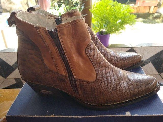 Bota Driggo's Boots couro de jacaré vendo ou troco em um tênis de meu gosto.