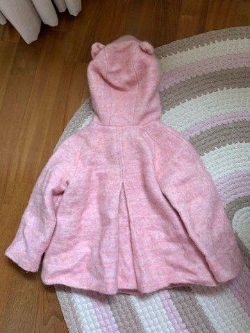 Casaco zara, tamanho 3 anos, rosa com capuz ! - Foto 2
