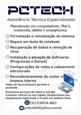 Assistência Técnica em Informática - Formatação e Reparo eletrônico de micros e notebooks - Foto 2