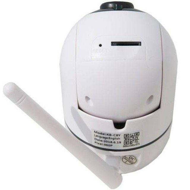 Câmera Ip Wifi Varredura Automática HD 960p Com Áudio Entrada Cartão               - Foto 4