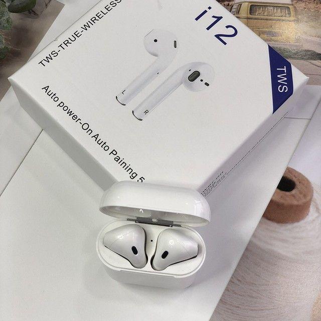Fone Bluetooth i12 TWS - 2021 - iOS/ Android