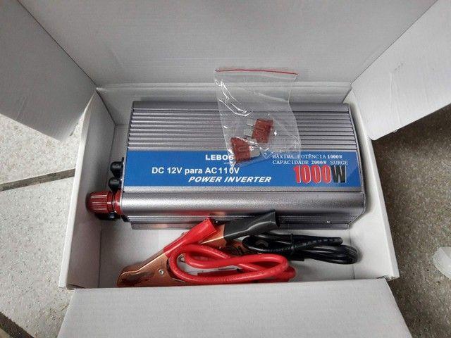 Inversor Veicular de Potência 12v para 110V 4000w 3000w 1000w 500w Leboss  - Foto 2