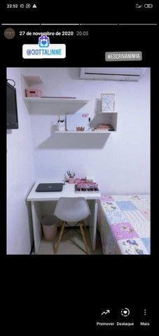 Kit área de estudo MDF (escrivaninha e prateleiras)