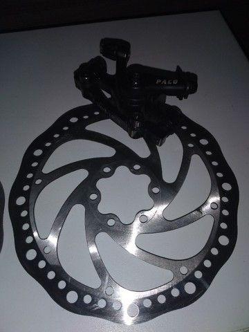 Par de freio a disco mecânico 2 pinças e 2 discos novinho - Foto 6