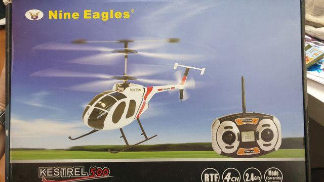 Helicóptero controle remoto 4 canais Nine Eagles Kestrel 500 4 canais