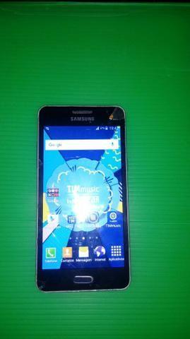 Samsung trincado porém funcionando