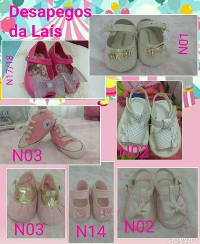 Lote de sapatos feminino