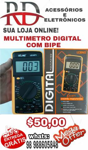 Multimetro digital lelong com bipe