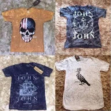 Kit 10 camisetas Jhon Jhon + reserva