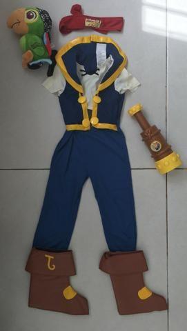 Fantasia Pirata Jake com Luneta + papagaio