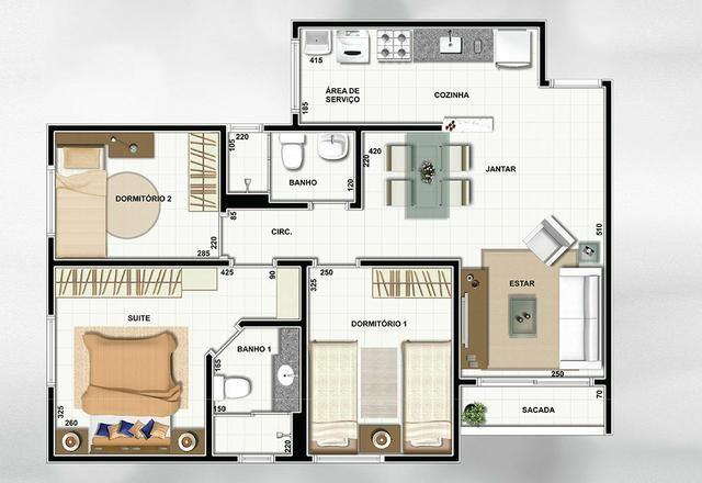 Apartamento próximo à UFMS - 3 Quartos - Foto 13