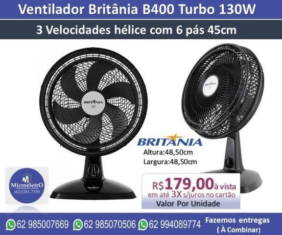 Ventilador Britânia B400 Turbo 130W