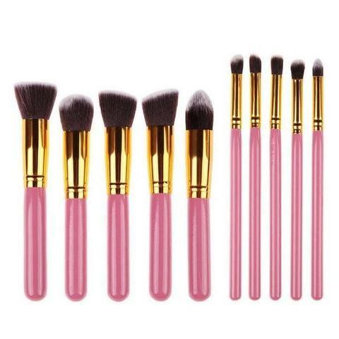 Pincel Para Maquiagem Kit 10 Pçs Kabuki Pronta Entrega - Foto 2