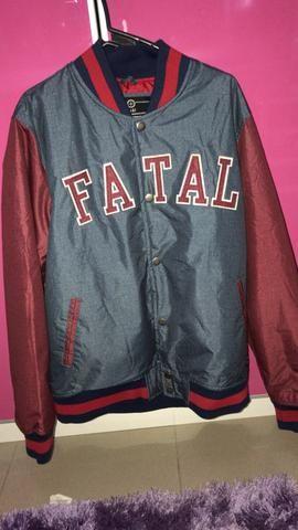 Jaqueta masculina marca Fatal tamanho M usada apenas 1 vez