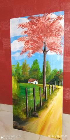 Pinturas feitas em madeiras