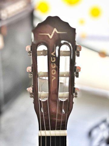 Violão nylon Vogga cutaway elétrico - Foto 3