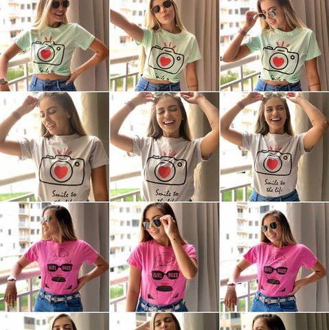 Blusa T-shirt feminina - Foto 4