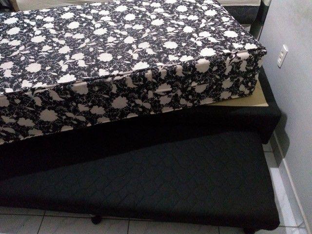 Cama solteiro com colchão seminovo e com cama auxiliar - Foto 4