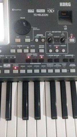 Teclado korg pa900 e equipamento de som completo  - Foto 3
