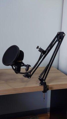 Kit Microfone Bm800 + Pop Filter + Aranha + Braço Articulado + Cabo XLR Santo Angelo de 5m - Foto 2
