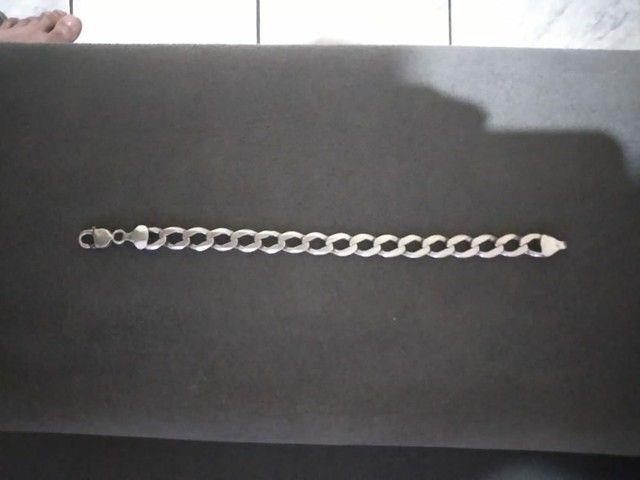 Pulseira de prata grossa  - Foto 3