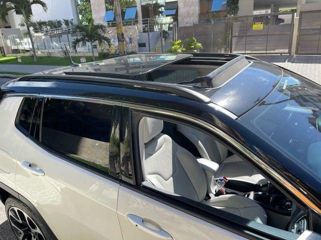 Jeep Compass Longitude Diesel 4x4 Teto Solar botão start/stop 20/20 - Foto 8