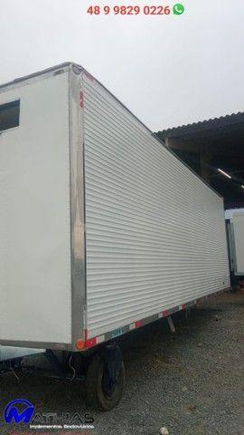 carroceria frigorifica truck caminhão trucado niju 14 paletes - Foto 4