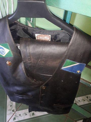 Colete/calça couro - Foto 2