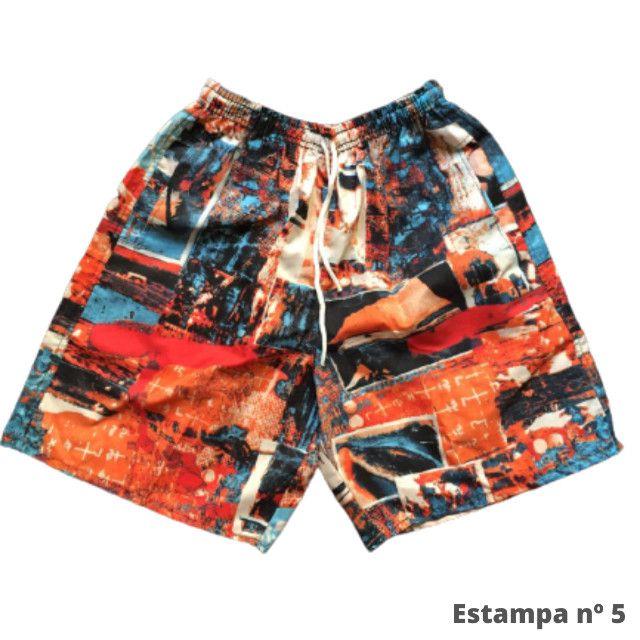 Kit 3 Shorts Masculino Mauricinho Verão Revenda - Foto 3