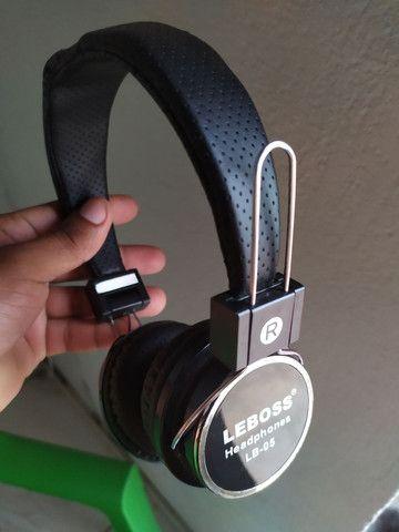 Fone de ouvido via bluetooth com o cabo  - Foto 2