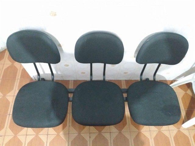 Cadeira de 3 Lugares (Preta)