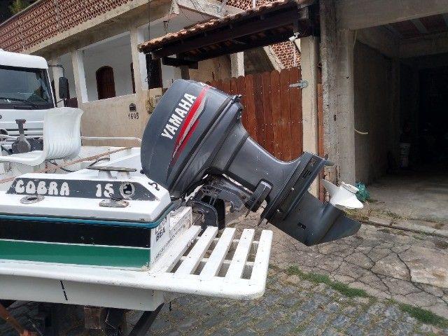 Vendo lancha com motor Yamaha de 40hp - Foto 6