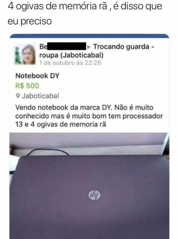 Compro notebook bom
