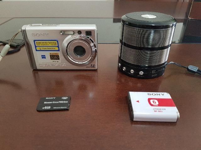 Câmera Cyber Shot 7.2 Mega Pixels - Full HD - c/ Card 4 GB