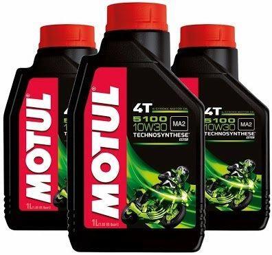 Óleo lubrificante Motul 5100 - melhor para Moto 4T