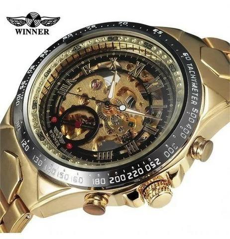 Relógio Importado Original Winner Esqueleto (Não Usa Bateria)