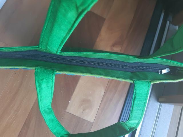 Bolsa tecido estruturada - Foto 4