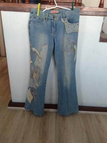 Calça jeans feminina azul claro da Gup´s Jeans (tamanho 38/40)