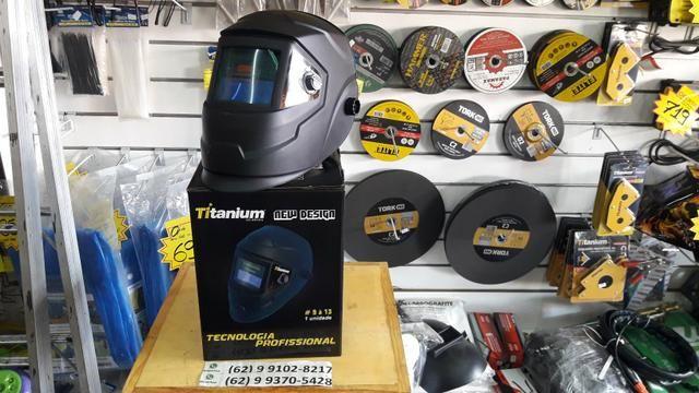 Máscara de Solda Com Regulagem Titanium