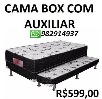 Compre e Receba No Mesmo Dia Cama Box Com Auxiliar Nova Apenas 599,00