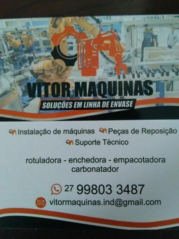 Manutenção de linha envase / venda peças reposição máquinas envase / reformas máquinas